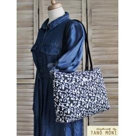 Big Day Bag fekete indás táska