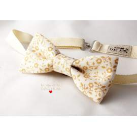 Bow Tie Csokornyakkendő sárga country virágos