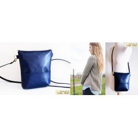 MIDDLE BAG műbőr táska sötétkék (új)