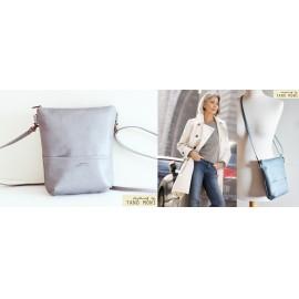 MIDDLE BAG műbőr táska galambszürke (új)