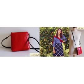 LITTLE BAG táska piros műbőrből (új)