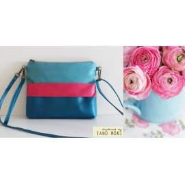 CLUTCH BAG táska sötéttürkiz pink türkiz