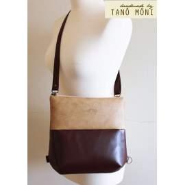 FOREST BAG hátizsák és táska, sötétbarna és natur világosbarna (új)