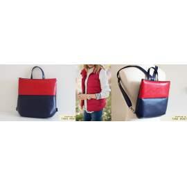 FOREST BAG hátizsák és táska, sötétkék és piros (új)
