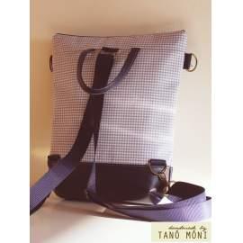 STREET BAG hátizsák és táska kék kiskockás sötétkék aljjal