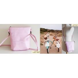 MIDDLE BAG műbőr táska rózsaszín (új)