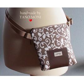 LITTLE BAG textil táska drapp indás