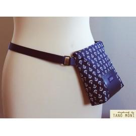 LITTLE BAG textil táska kék horgonyos (új)