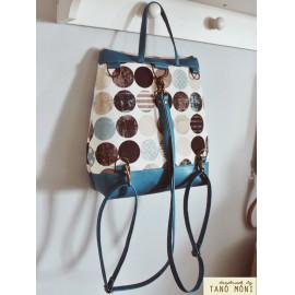 COUNTRY BAG hátizsák és táska körmintás türkiz