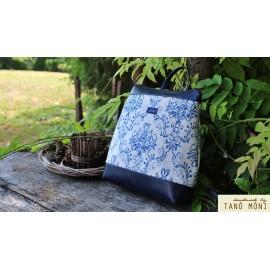 COUNTRY BAG hátizsák és táska kék barokk sötétkék (új)
