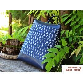 COUNTRY BAG hátizsák és táska kék horgonyos sötétkék (új)