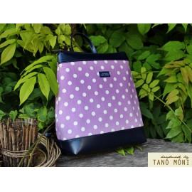 COUNTRY BAG hátizsák és táska lila pöttyös sötétkék (új)