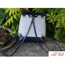COUNTRY BAG hátizsák és táska kék kiskockás sötétkék (új)