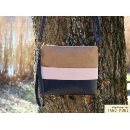 CLUTCH BAG táska Sötétkék puder natur (új)