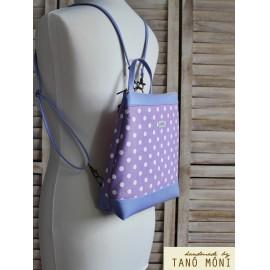 COUNTRY BAG hátizsák és táska lila pöttyös lila(új)