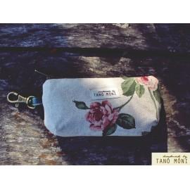 CSATOS szütyő natur piros rózsás (új)