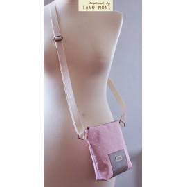 LITTLE BAG textil táska rózsaszín pöttyös (új)