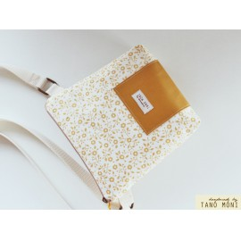 LITTLE BAG textil táska sárga virágos sárga (új)