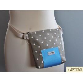 LITTLE BAG textil táska ovál mintás (új)