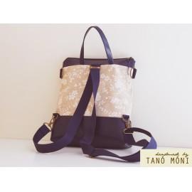 CONFORT BAG hátizsák és táska kék barokk sötétkék (új)