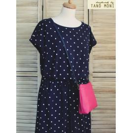 A KIS FEKETE táska pink színben kézi és átvetős (új)