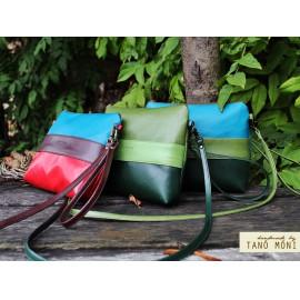 CLUTCH BAG táska Olajzöld zöld sötéttürkiz (új)