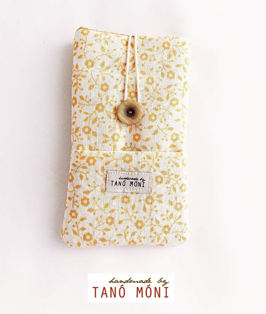 MOBILTOK sárga virágos (új)