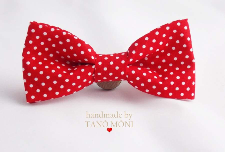 Bow Tie Csokornyakkendő piros kispöttyös  (új)