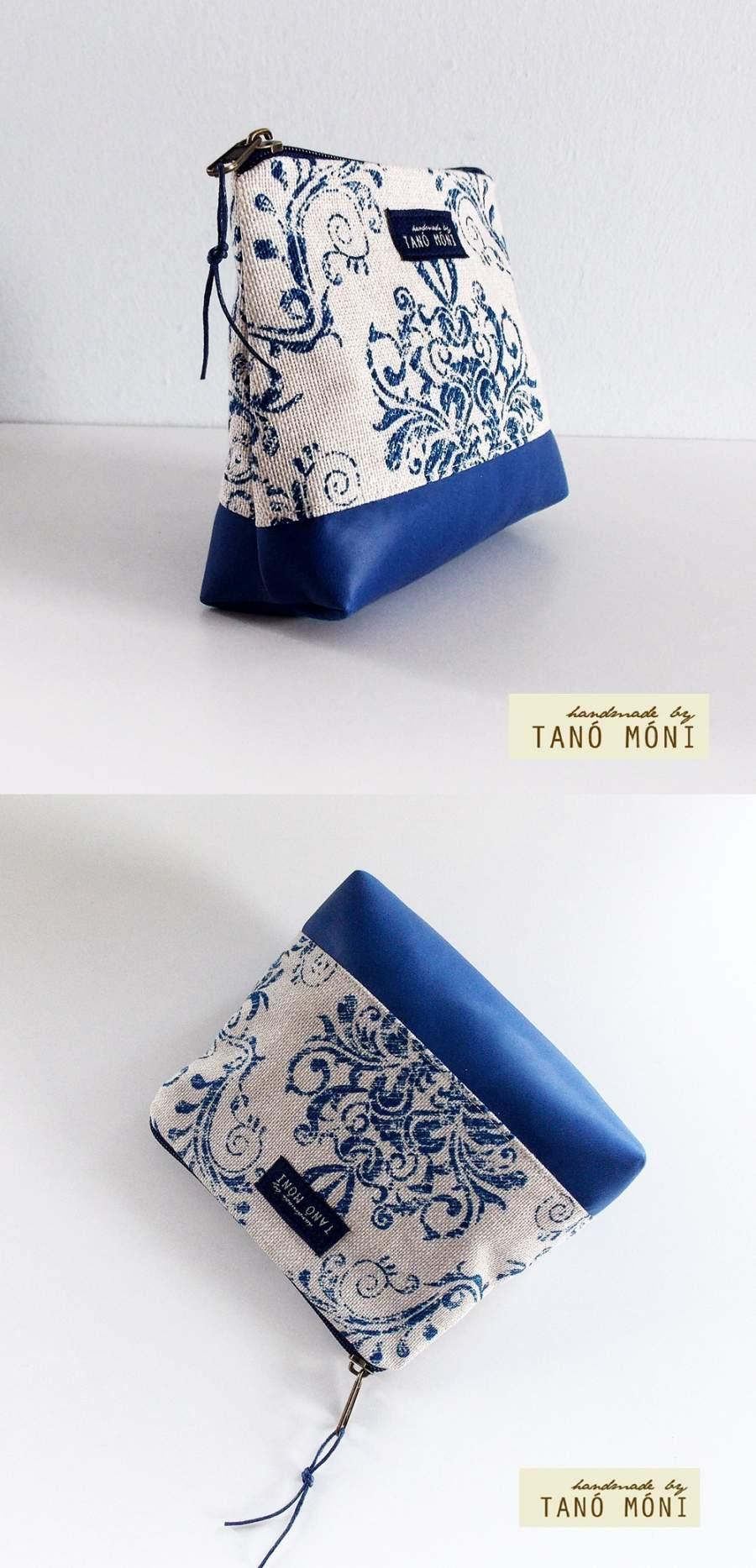 NESZESZER XS kék barokk mintás királykék műbőr díszítéssel (új) ... 17db589836
