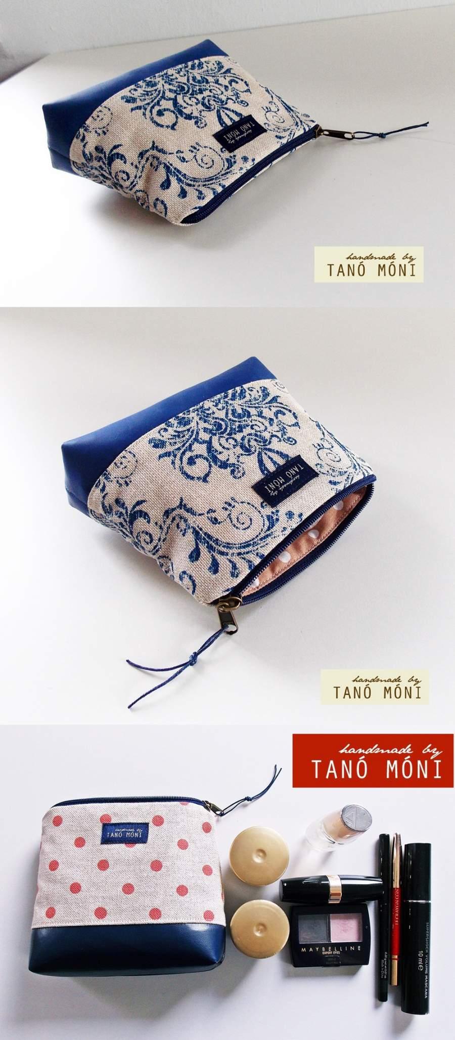 ... NESZESZER XS kék barokk mintás királykék műbőr díszítéssel (új) 3a8522941a