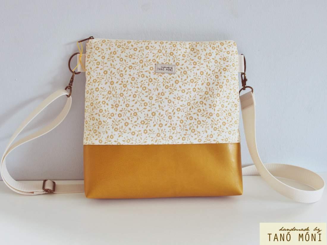 CONFORT BAG Middle sárga virágos sárga műbőrrel (új)