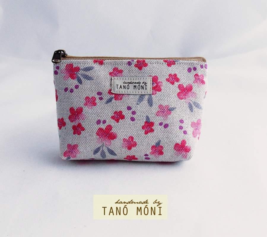 KÁRTYATARTÓ rózsaszín virágos  (új)