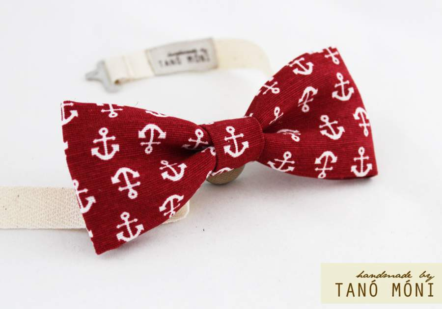9a0afa510b Bow Tie Csokornyakkendő piros horgony mintás (új) ...