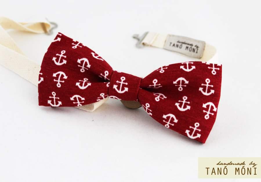 20fd25098f ... Bow Tie Csokornyakkendő piros horgony mintás (új)