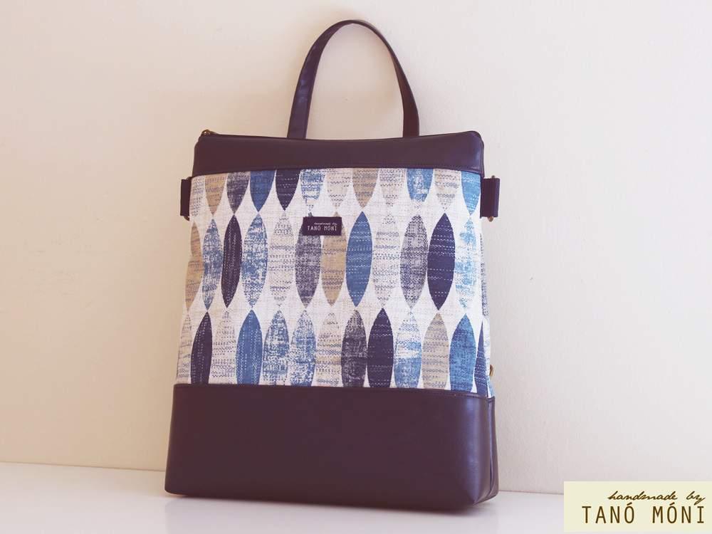 CONFORT BAG hátizsák és táska ovál mintás sötétkék aljjal (új)