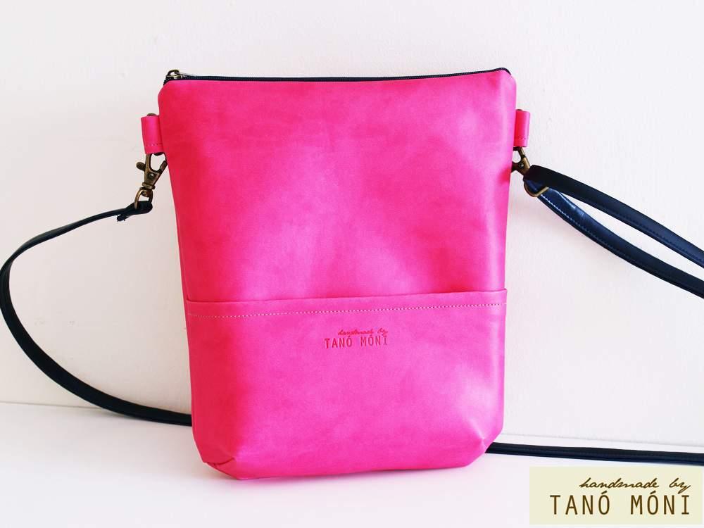 MIDDLE BAG műbőr táska pink (új)