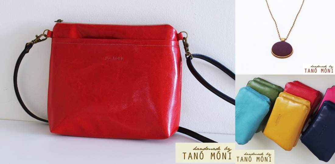 A KIS FEKETE táska szett Piros
